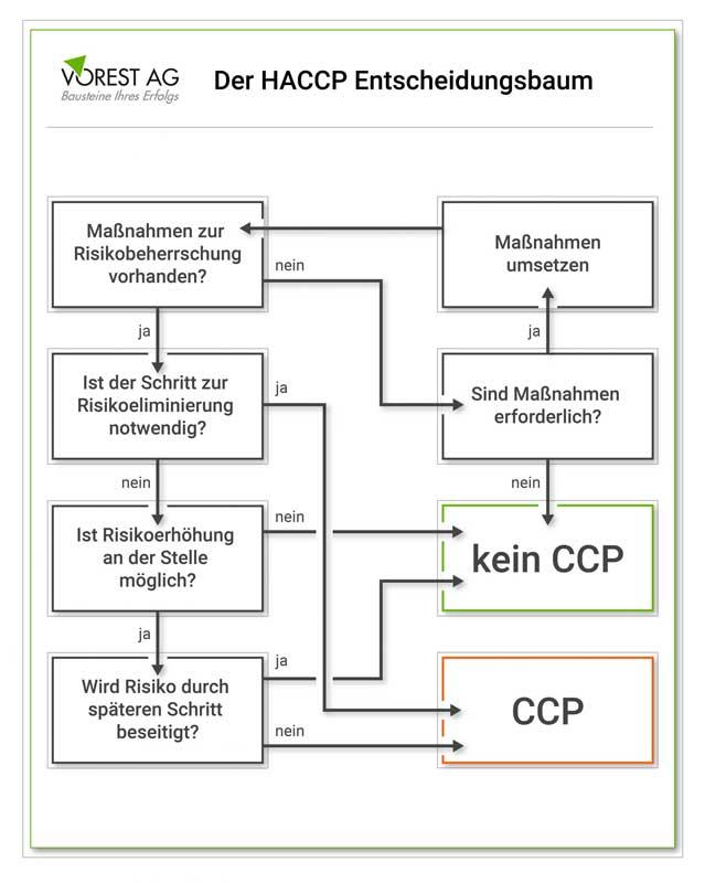 Entscheidungsbaum HACCP Konzept