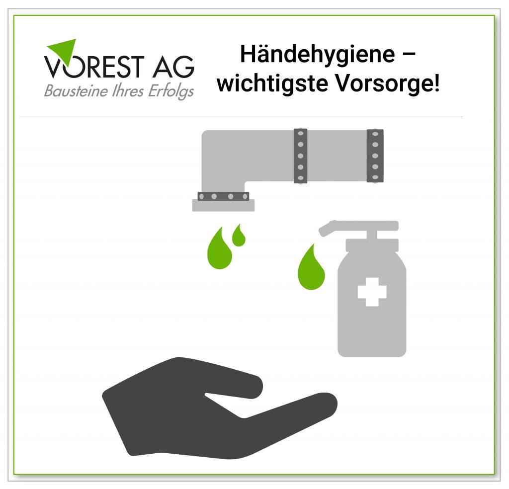 Hygieneunterweisung Hände waschen