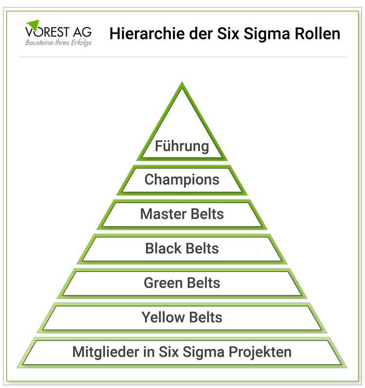 Wo steht der Six Sigma Black Belt in der Hierarchie?