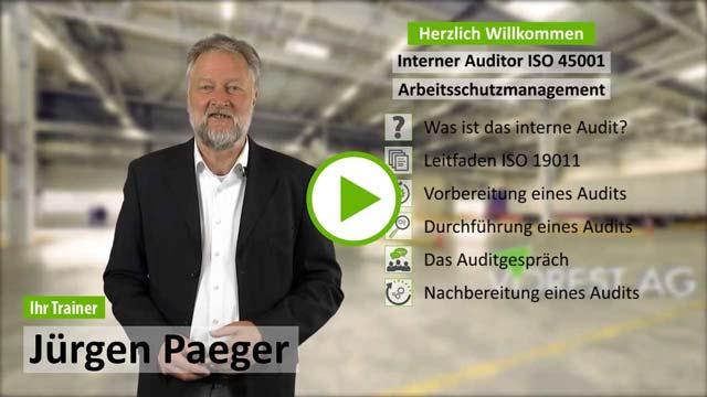 Präsenzschulung Interner Auditor Arbeitsschutzmanagement ISO 45001