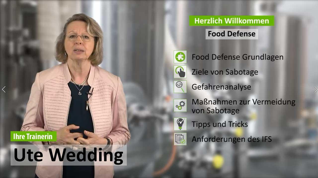 Präsenzschulung Food Defense